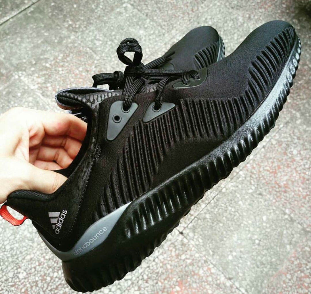 adidas Alpha Bounce 'Triple Black' 3