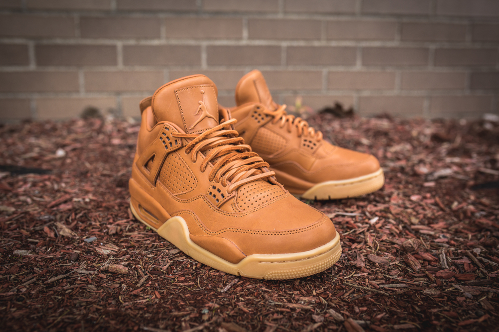 air jordan 4 retro premium ginger gum yellow 9