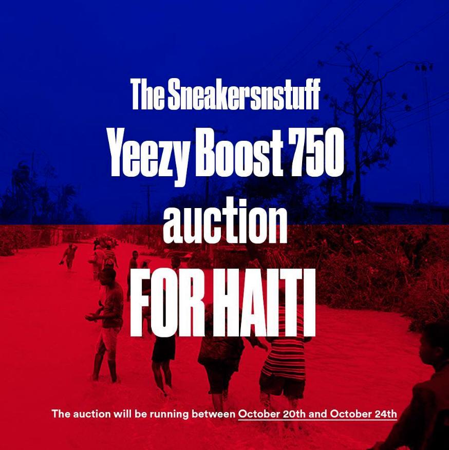 sneakersnstuff auction yeezy boost 750 haiti 1
