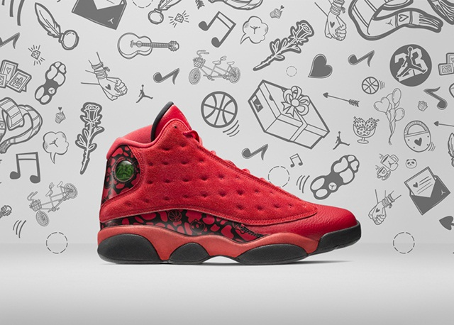 """Air Jordan 13 Retro """"What Is Love"""" Series red 1"""