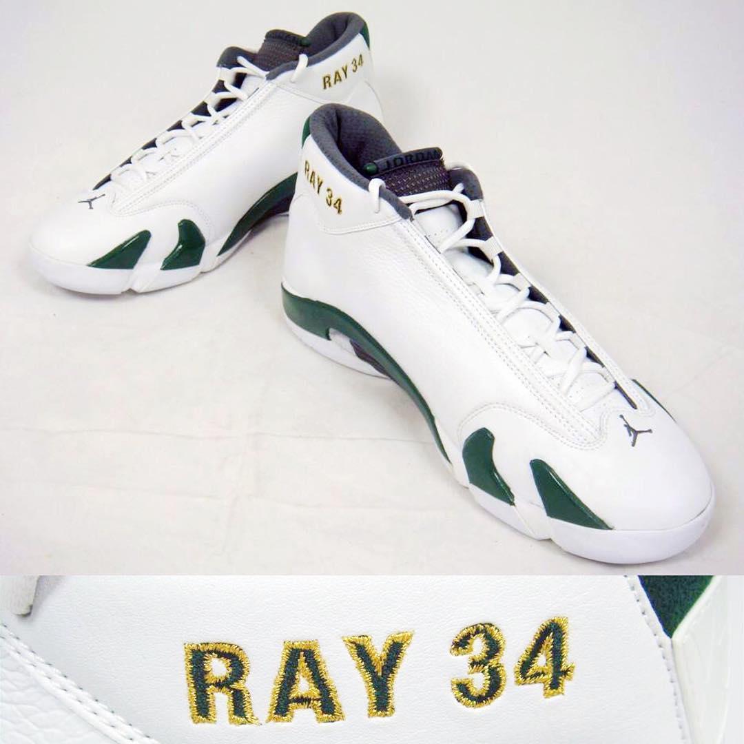 ray allen Air Jordan 14 - Supersonics PE