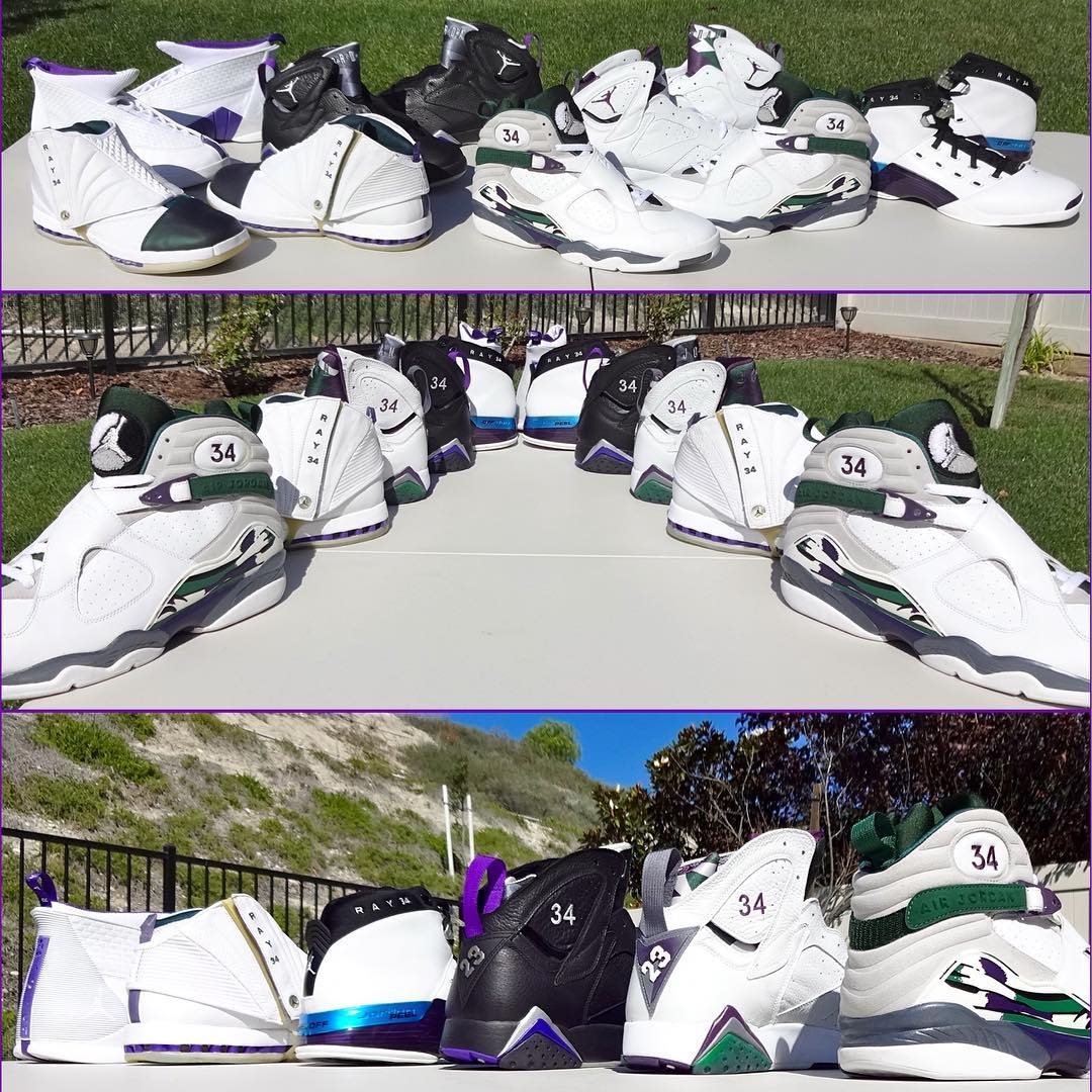 ray allen Air Jordan Milwaukee Bucks PEs