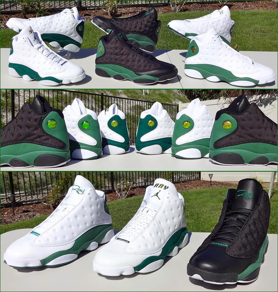 ray allen Air Jordan 13 Retro - Boston Celtics Home/Away PE