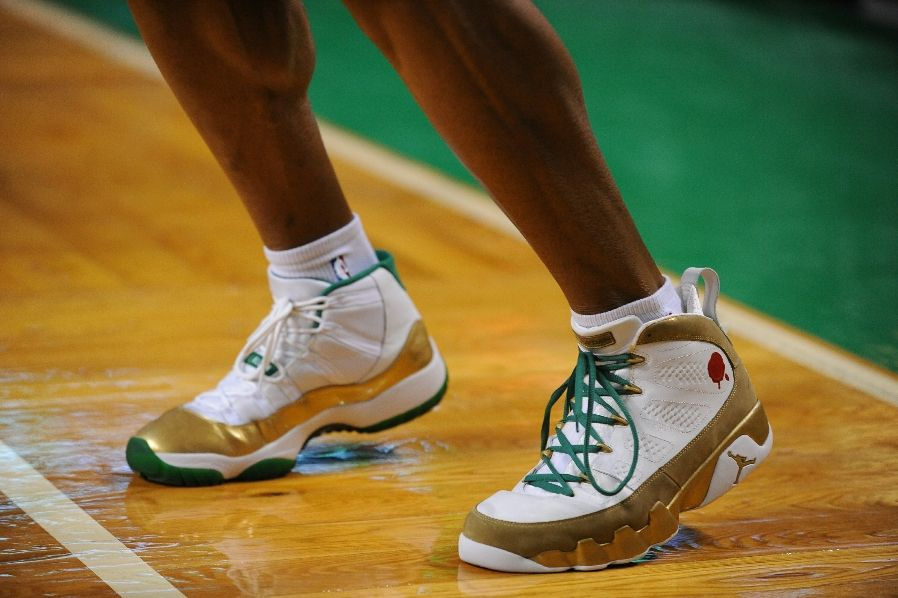 ray allen Air Jordan 11 Retro/Air Jordan 9 Retro – Special Boston Celtics Home PE
