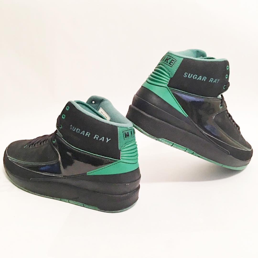 ray allen Air Jordan 2 Retro - Boston Celtics Away PE