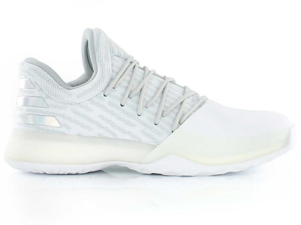 adidas harden vol. 1 primeknit all white 1