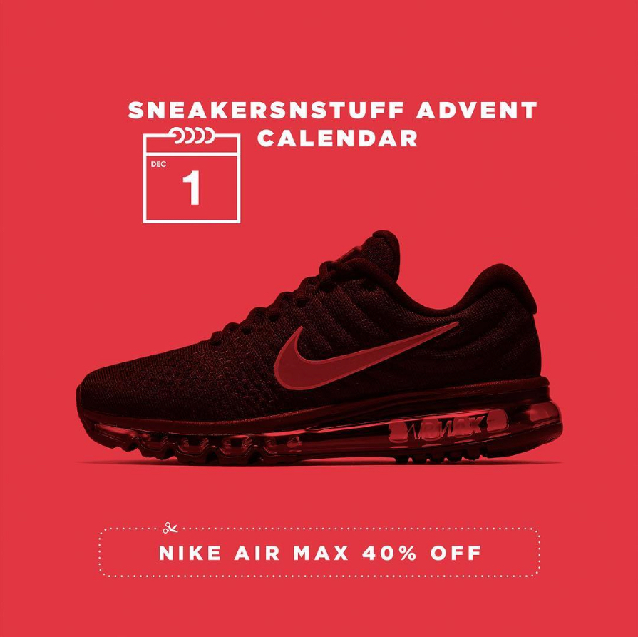 sneakersnstuff advent calendar 1