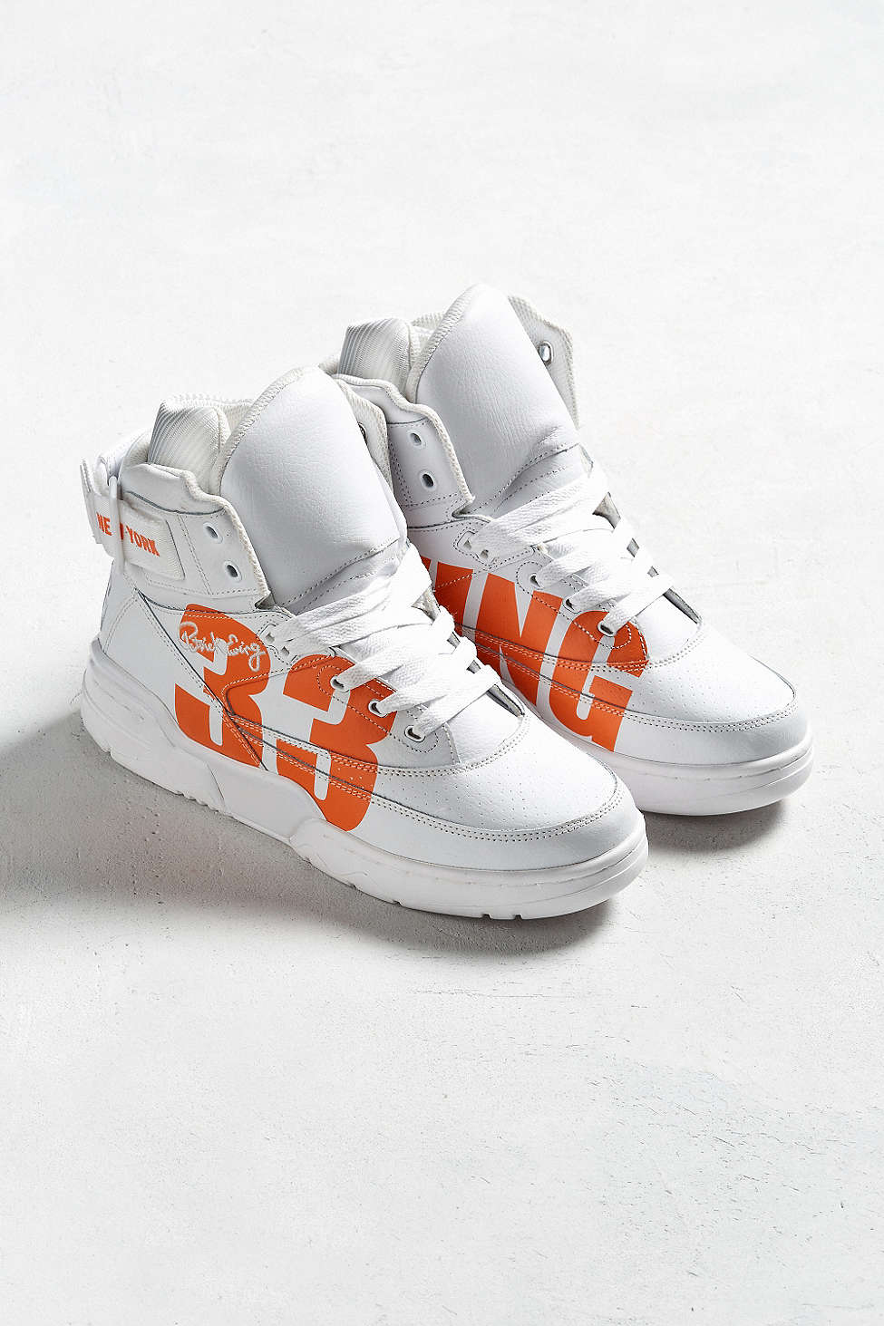 urban outfitters x ewing 33 hi NYC white orange 2