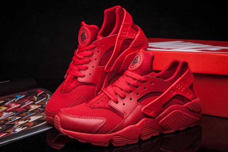 nike huarache air all red