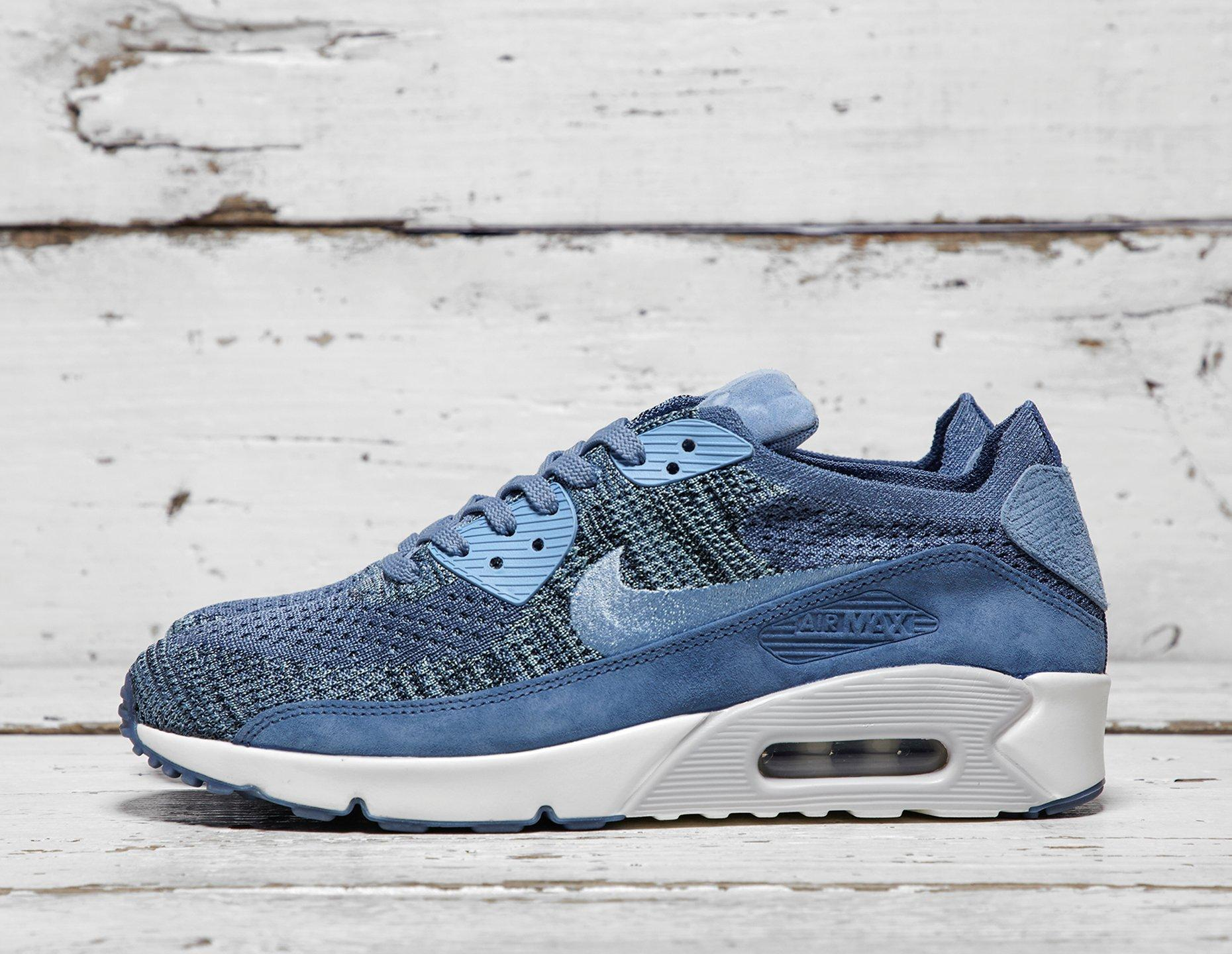 cheap for discount 93160 21c0a nikelab air max 90 flyknit blue - WearTesters