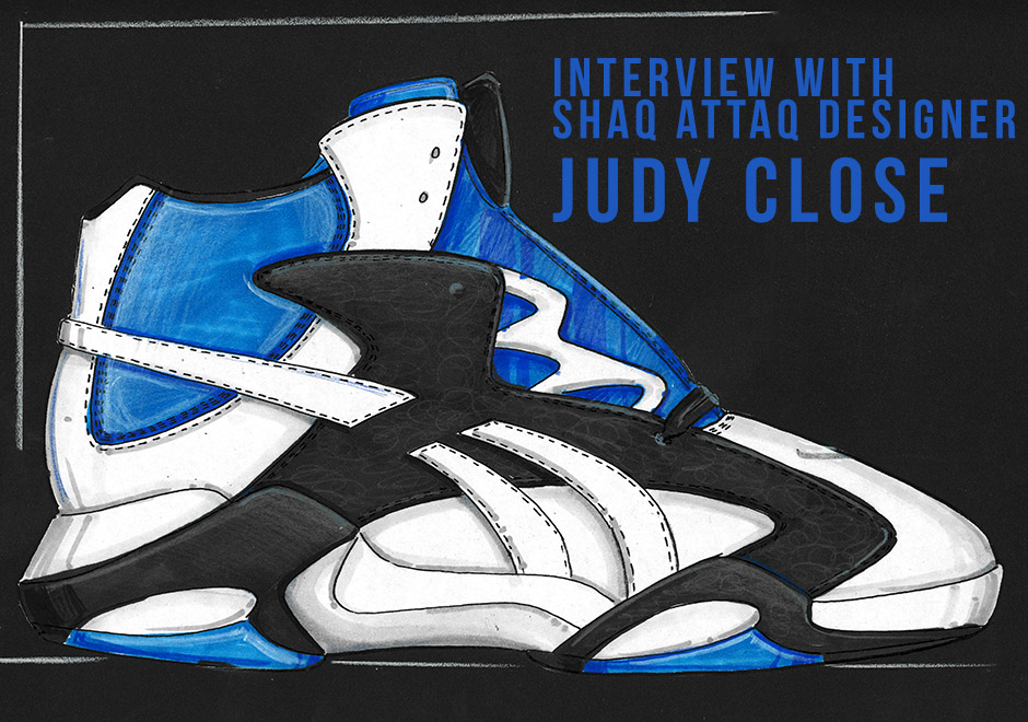 reebok shaq attaq designer judy close interview