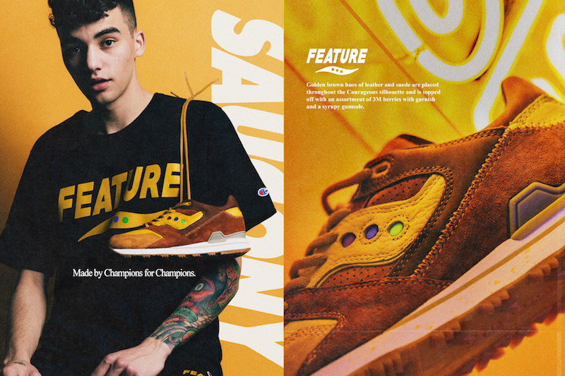 Feature x Saucony Courageous Belgian Waffle 6