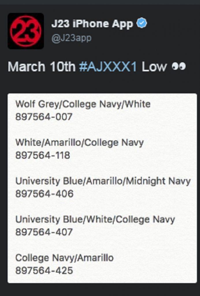 jordan xxxi low release dates