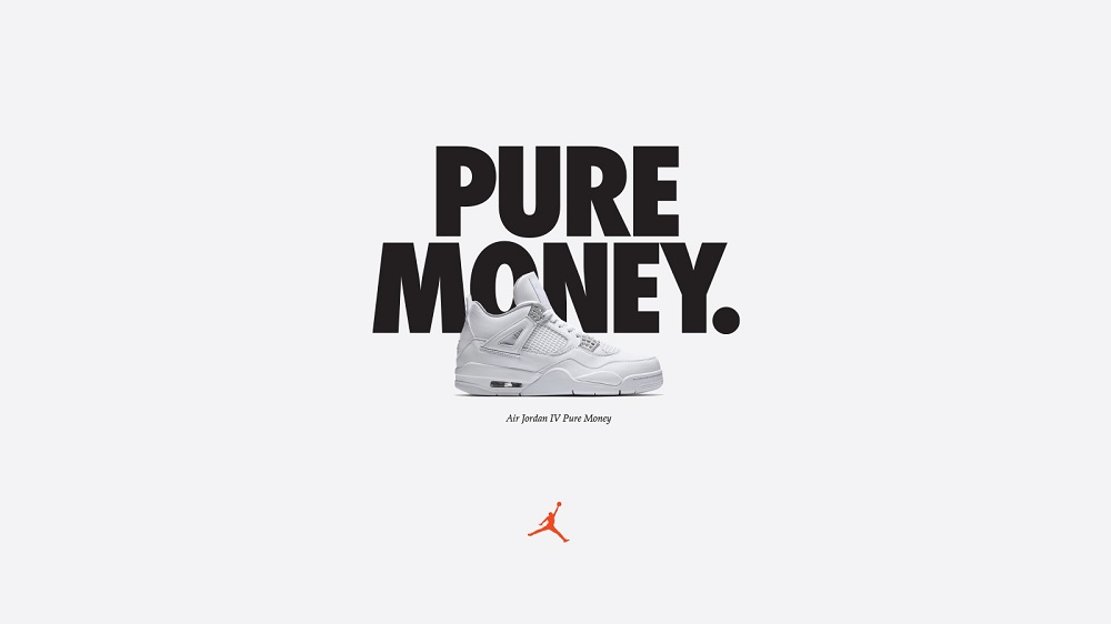 jordan IV pure money open