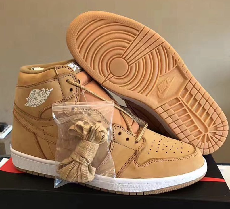 Our First Look at the 'Wheat' Air Jordan 1's Surface