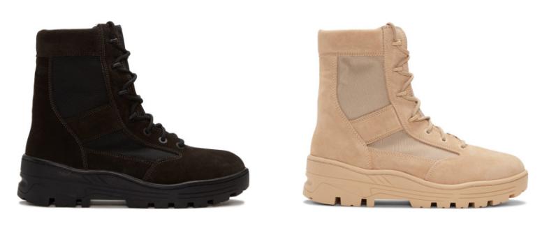 yeezy season 4 combat boots beige black