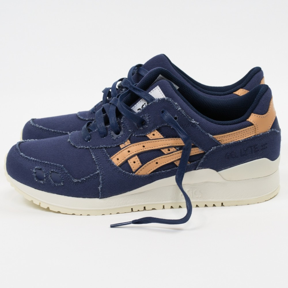 asics gel lyte iii indigo blue tan denim 3 WearTesters