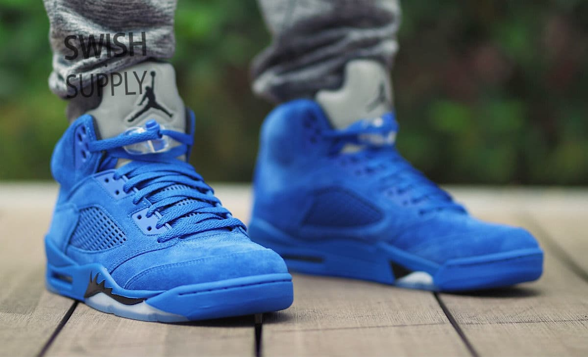 super popular e7c82 4139d Are You Digging the Air Jordan 5 in 'Blue Suede'? - WearTesters