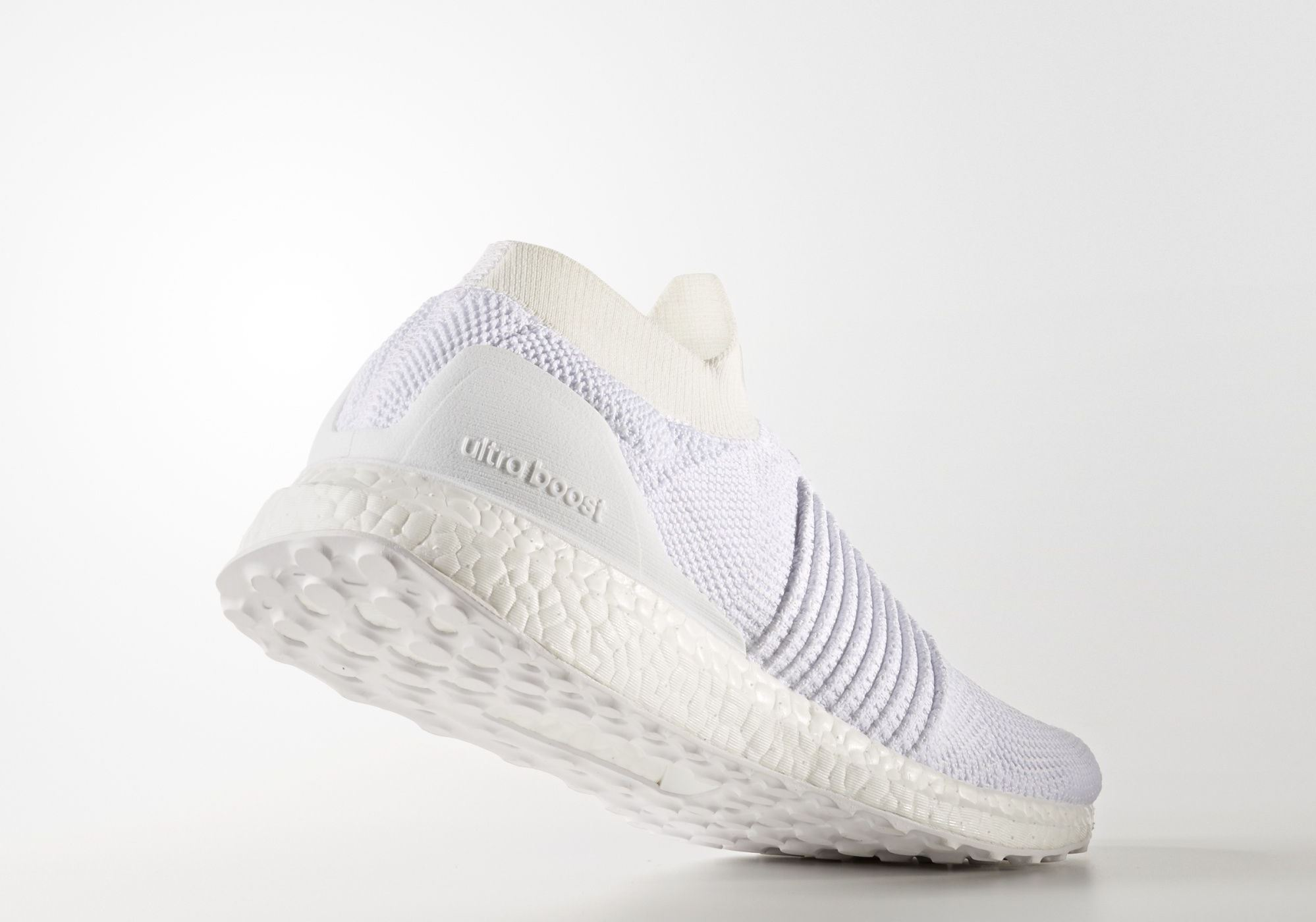 adidas Ultra Boost Laceless Mid Triple White – Back heel