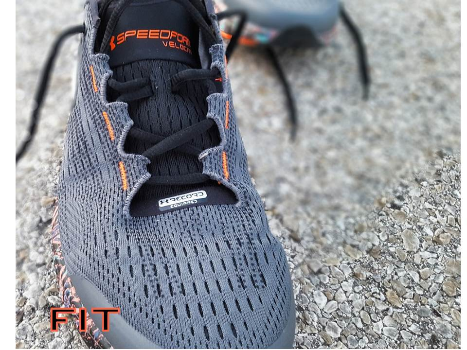 under armour speedform velociti performance review fit