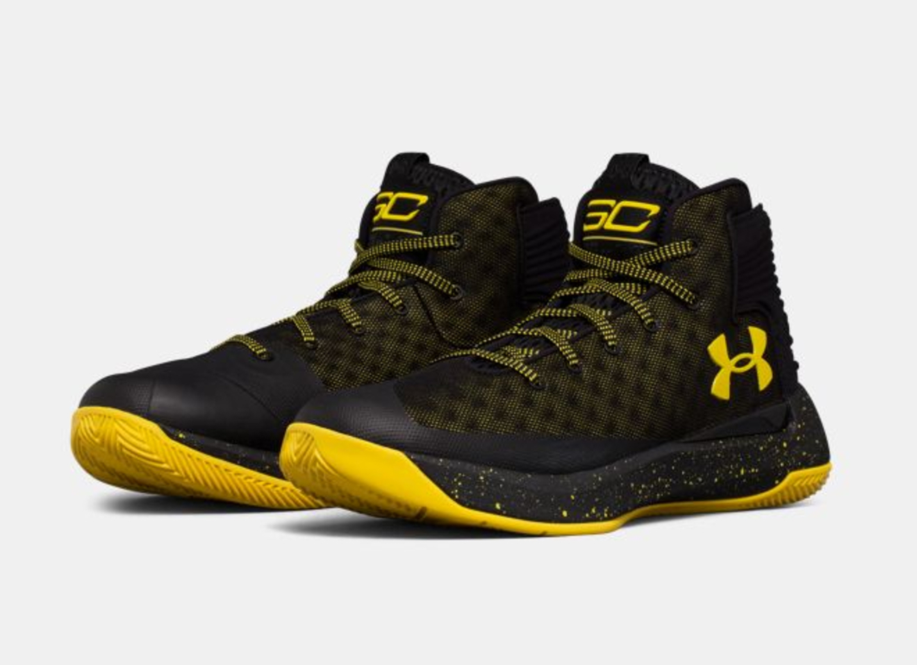 under armour curry 3ZER0 black taxi 3