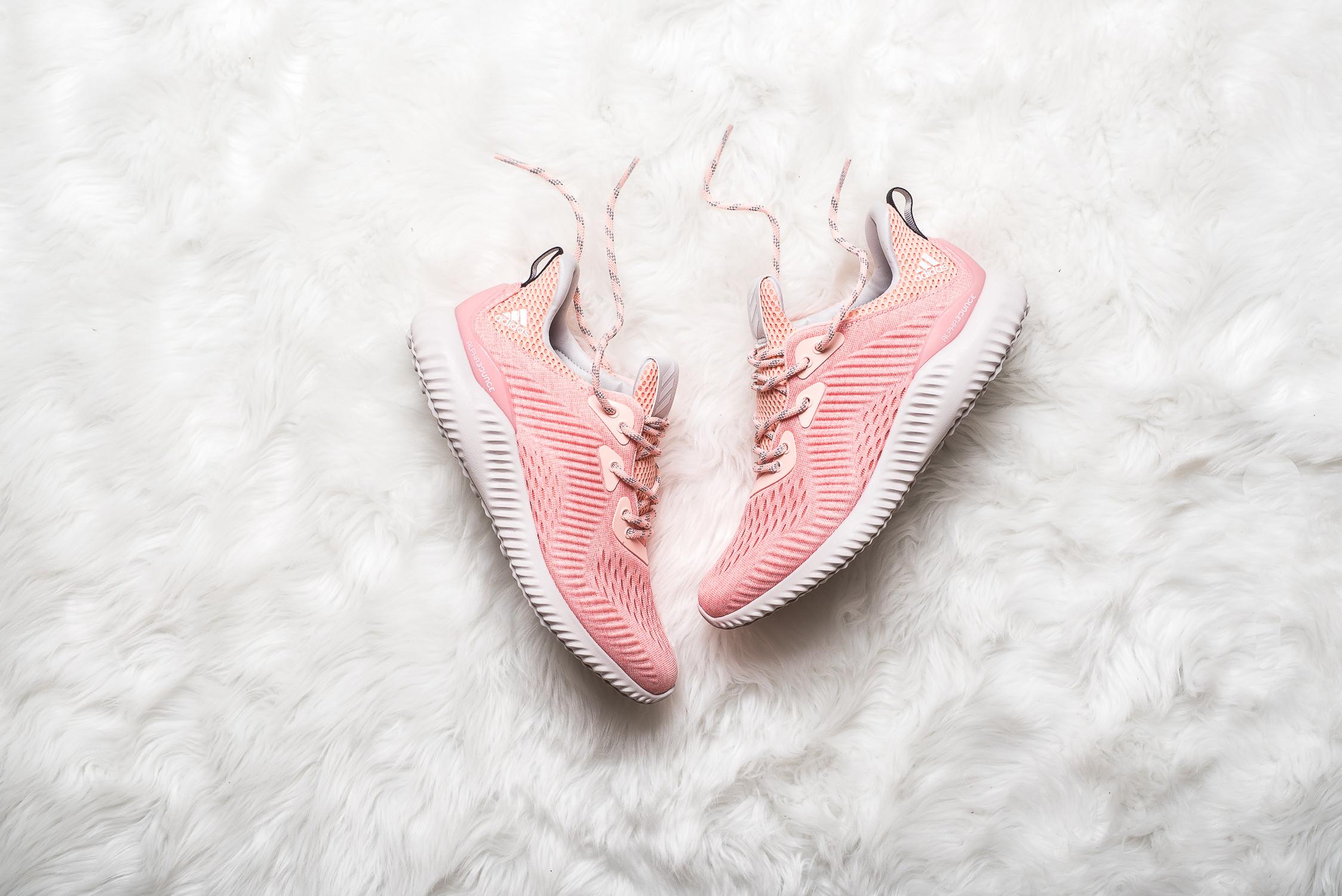 womens adidas Alphabounce EM Pink 1
