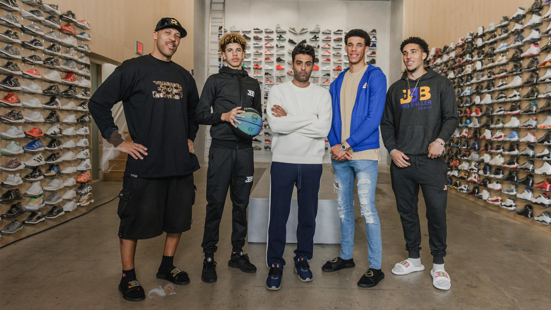 LaVar, Lonzo, LaMelo, and LiAngelo Ball go Sneaker Shopping with Complex