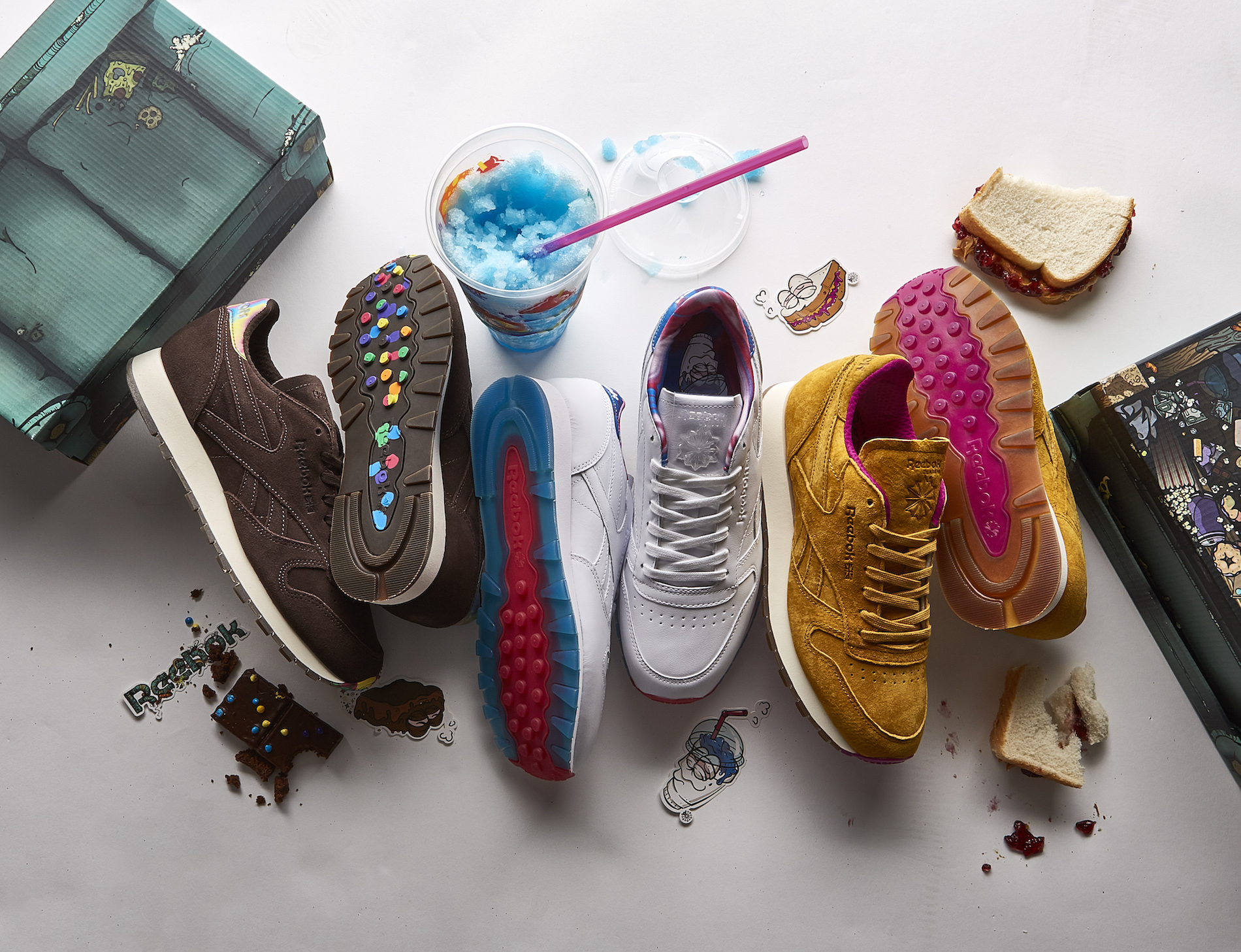 chris hill reebok classic leather munchies pack