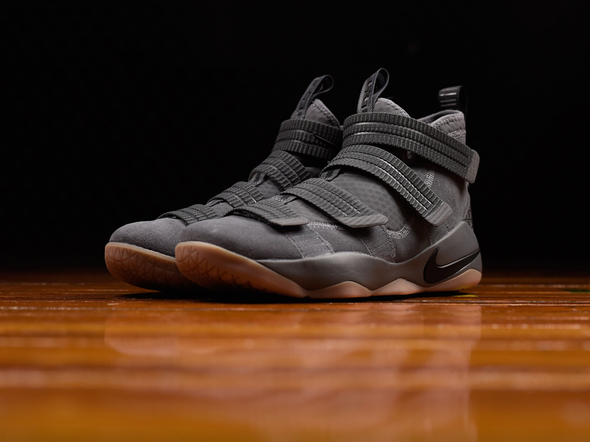 The Nike LeBron Soldier 11 Drops in Grey Gum-2
