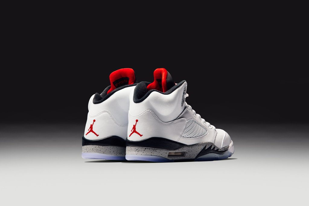 air jordan 5 retro white cement 1