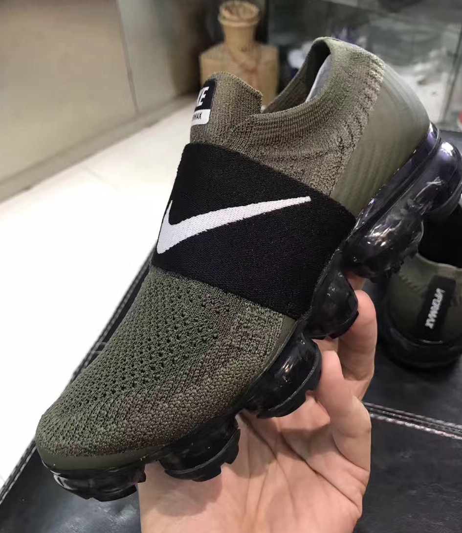 nike air vapormax laceless olive 2