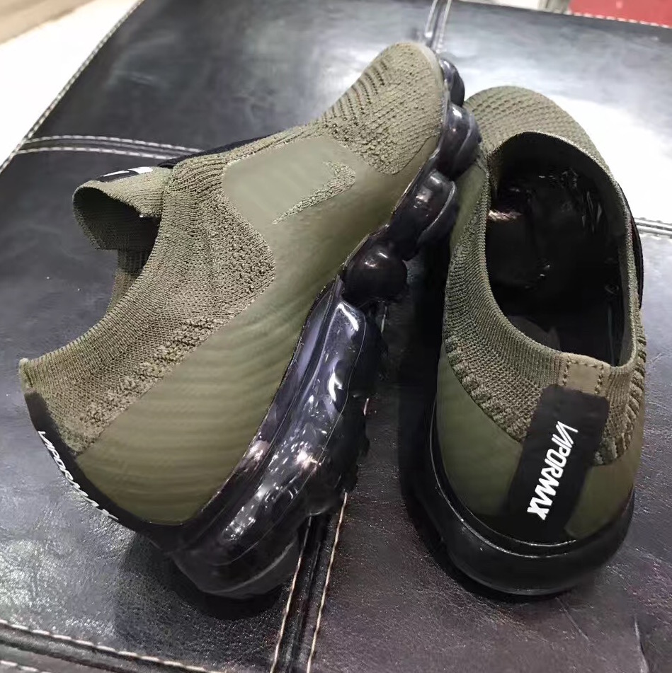 nike air vapormax laceless olive 6