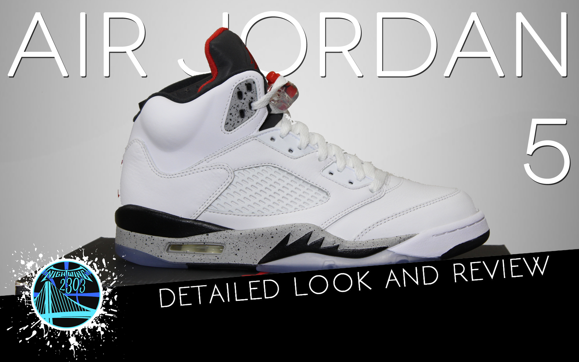 Air Jordan 5 White:Cement | Detailed Look and Review