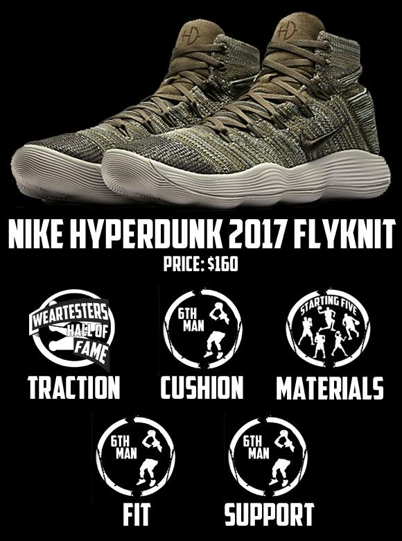 nike react hyperdunk 2017 flyknit performance review score