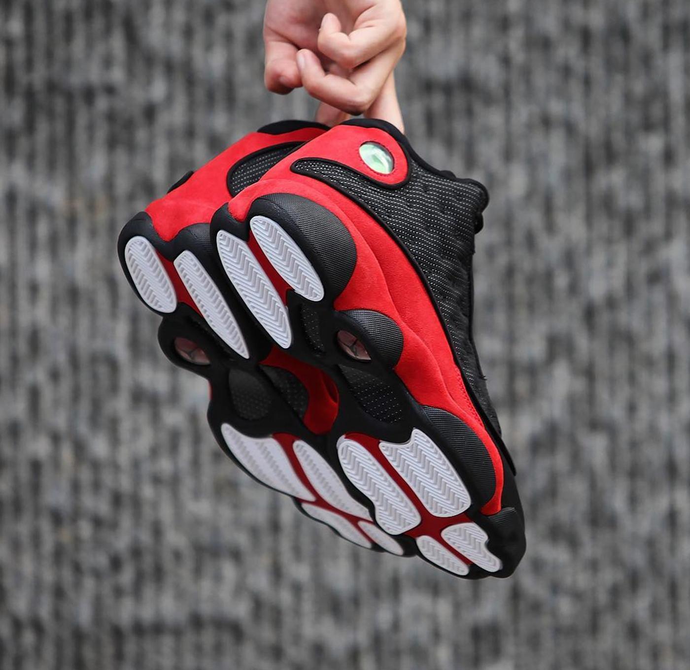air jordan 13 retro black red 100