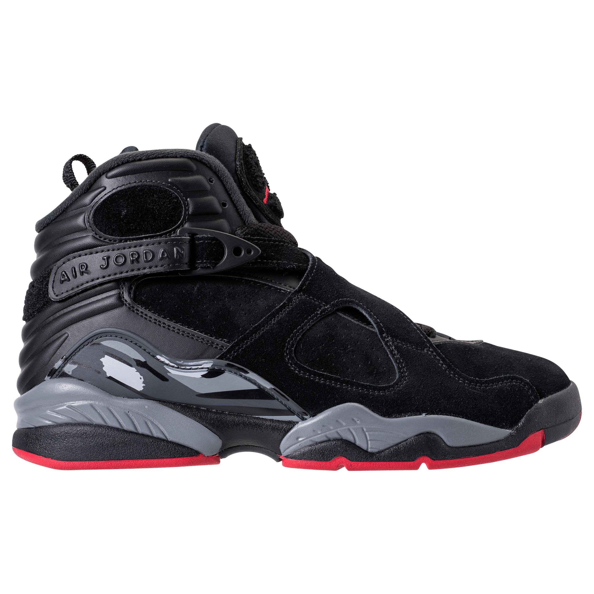 The Air Jordan 8 Retro in Black/Gym Red