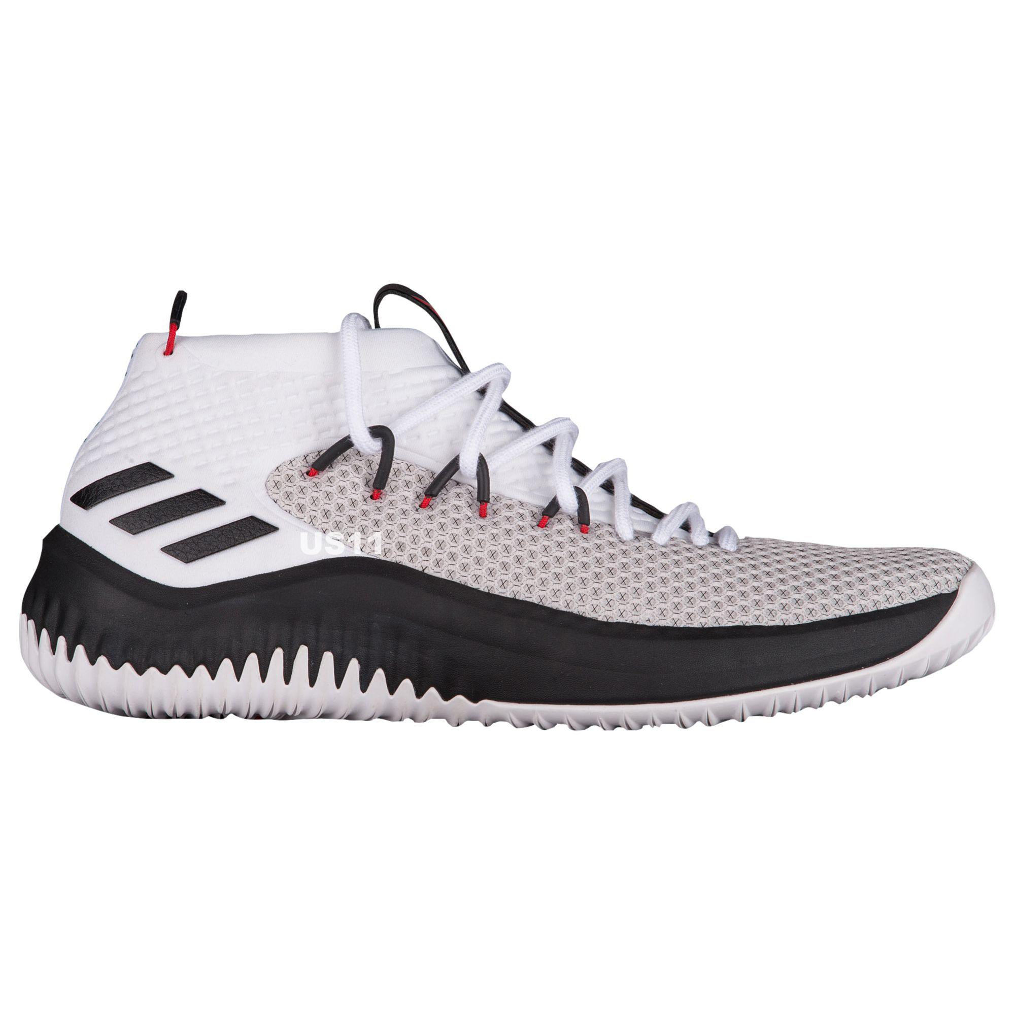 adidas dame 4 white black 1