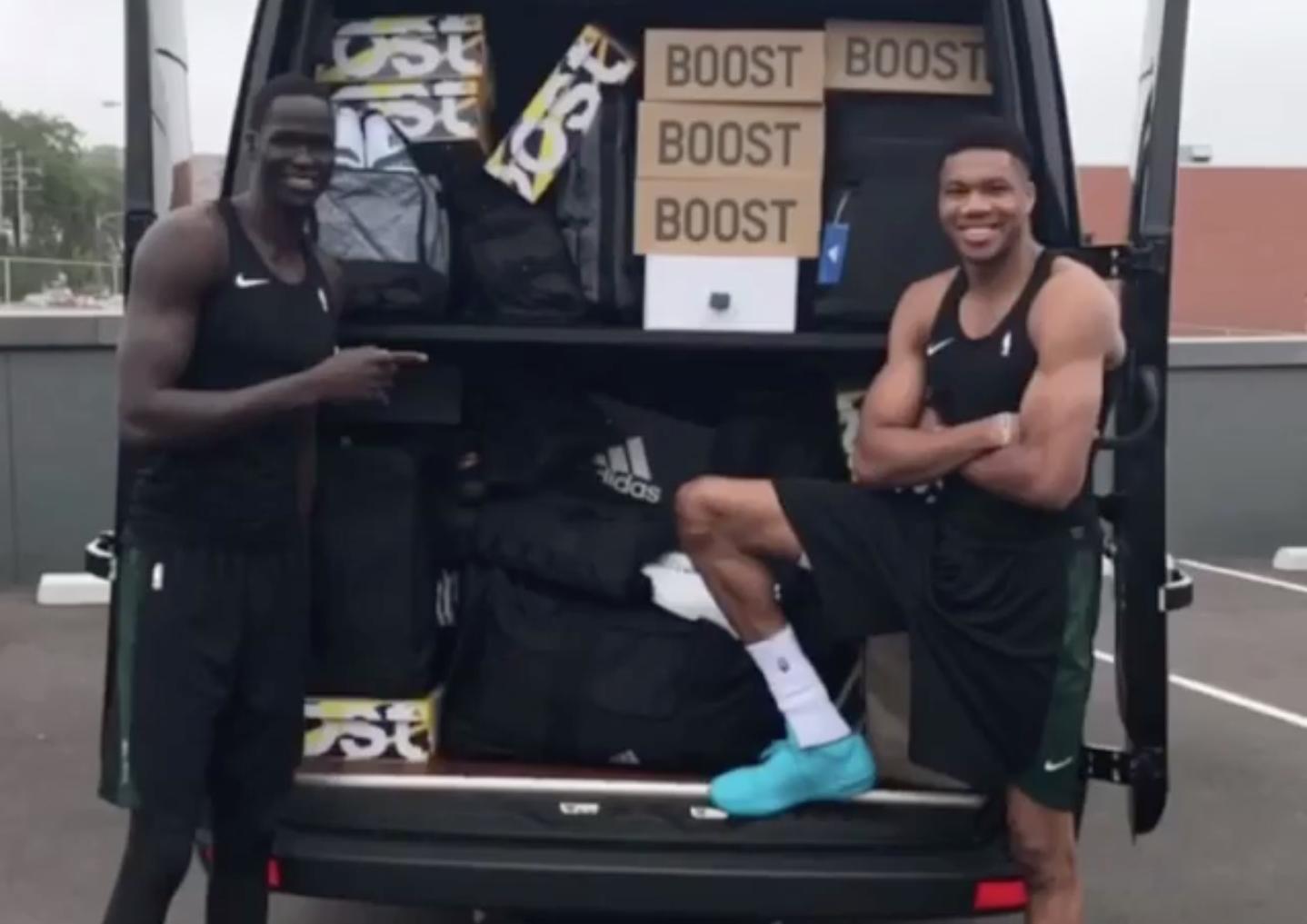 giannis antetokounmpo adidas truckload sneakers