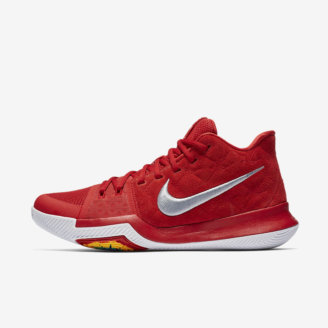 nike kyrie 3 red suede 3