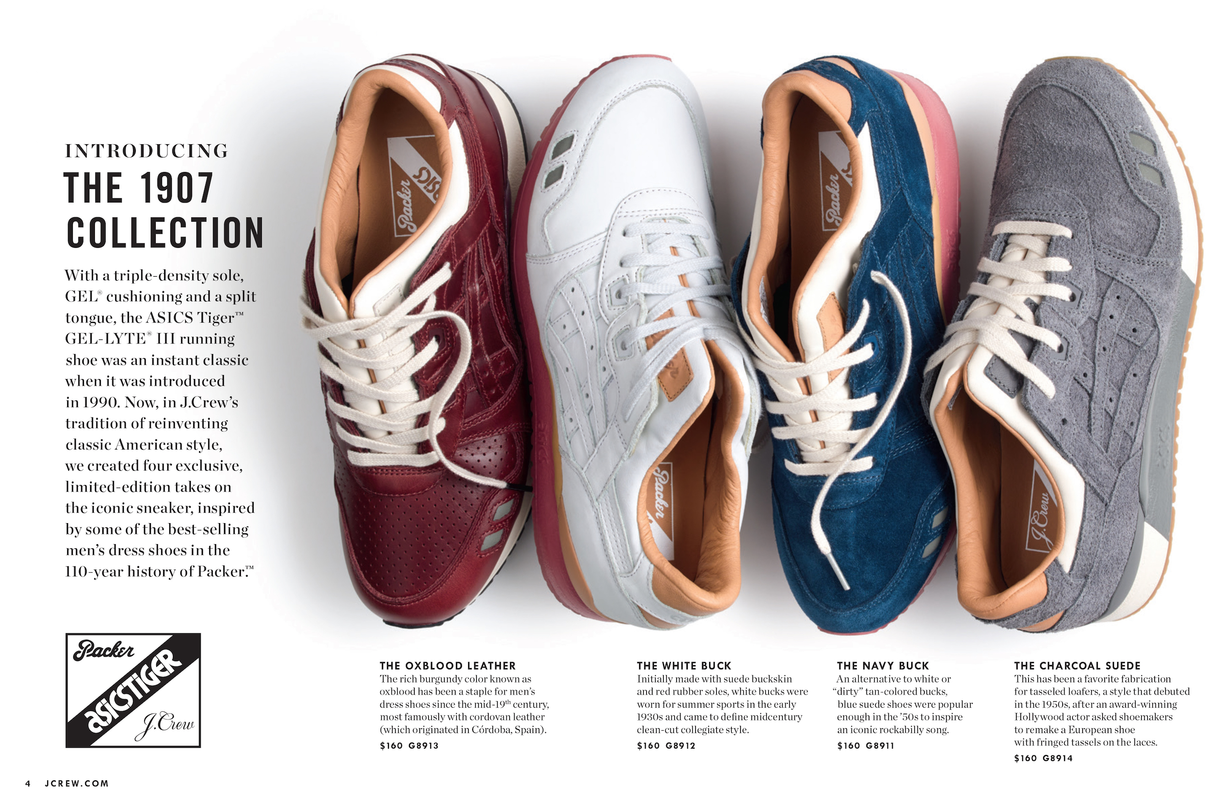 packer shoes jcrew asics tiger 1907 collection 1
