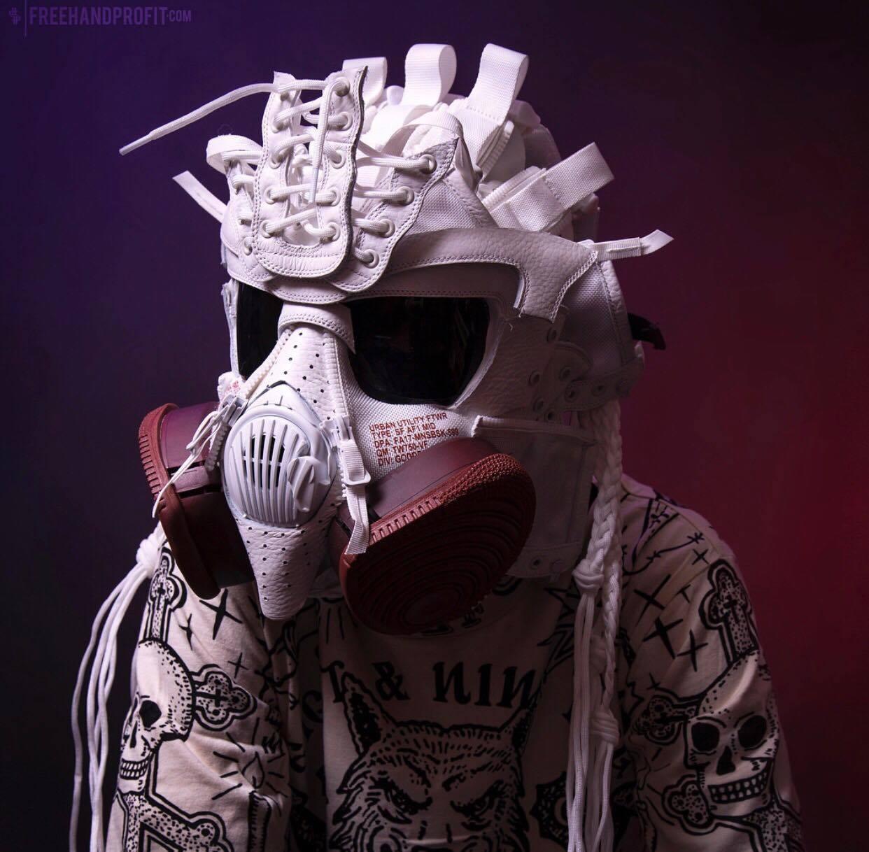freehand profit SF-AF1 mid sneaker masks 3
