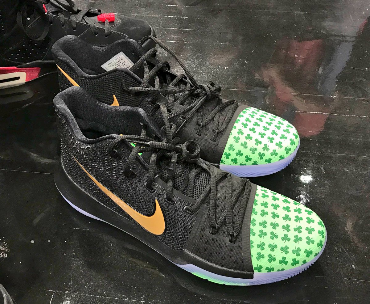 Kyrie Debuts A Celtics PE of the Nike Kyrie 3
