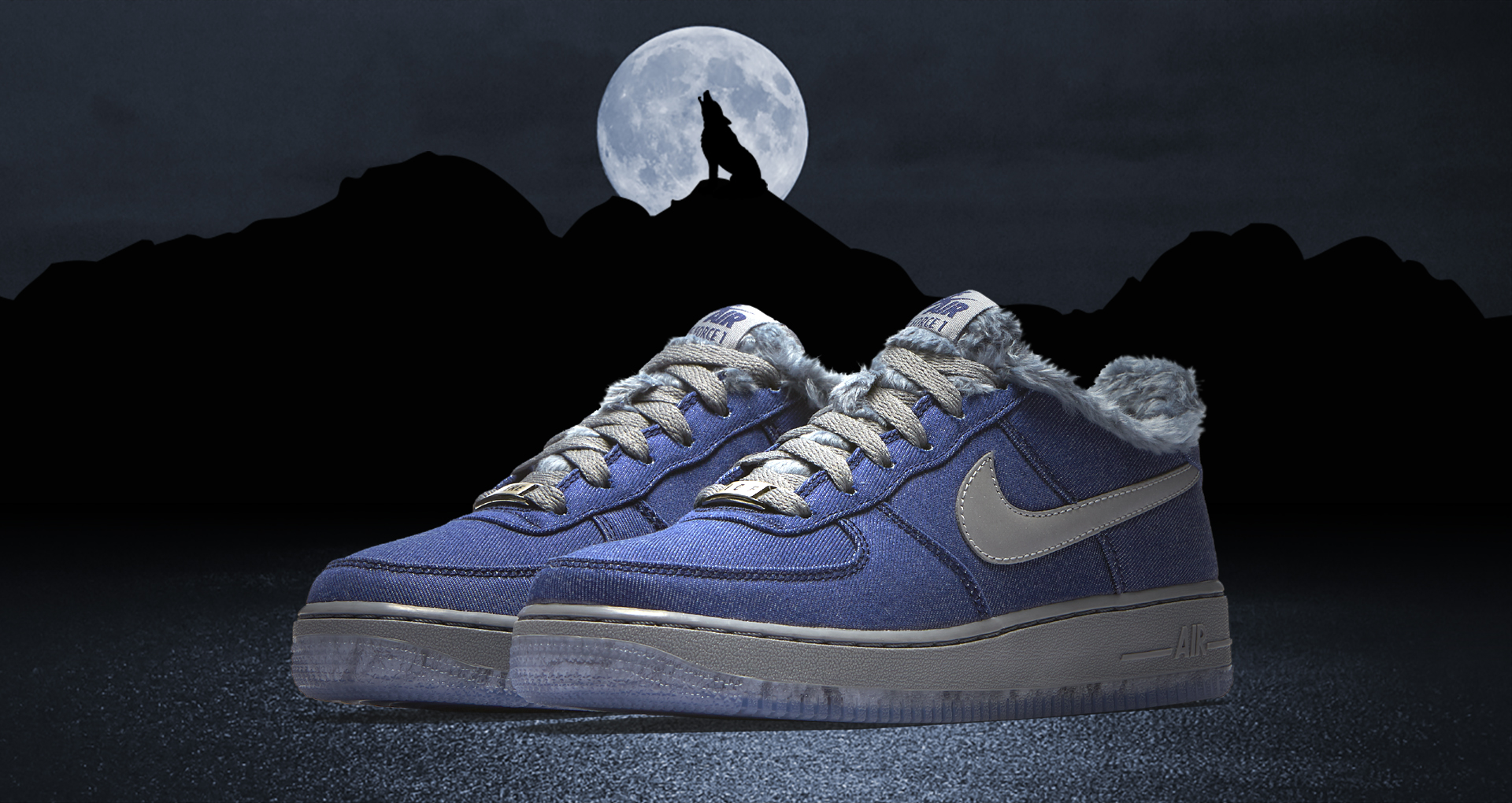 Nike Air Force 1 GS Full Moon friday the 13th 10