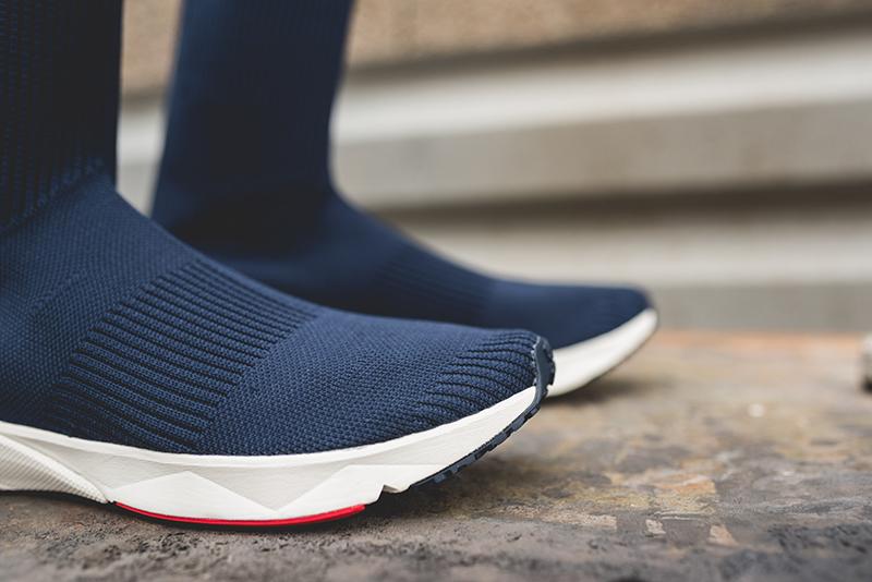 reebok sock runner ultraknit navy 2