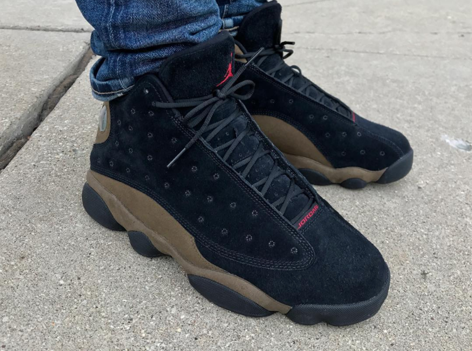 Air-Jordan-13-Retro-Olive-2018-On-Foot-2