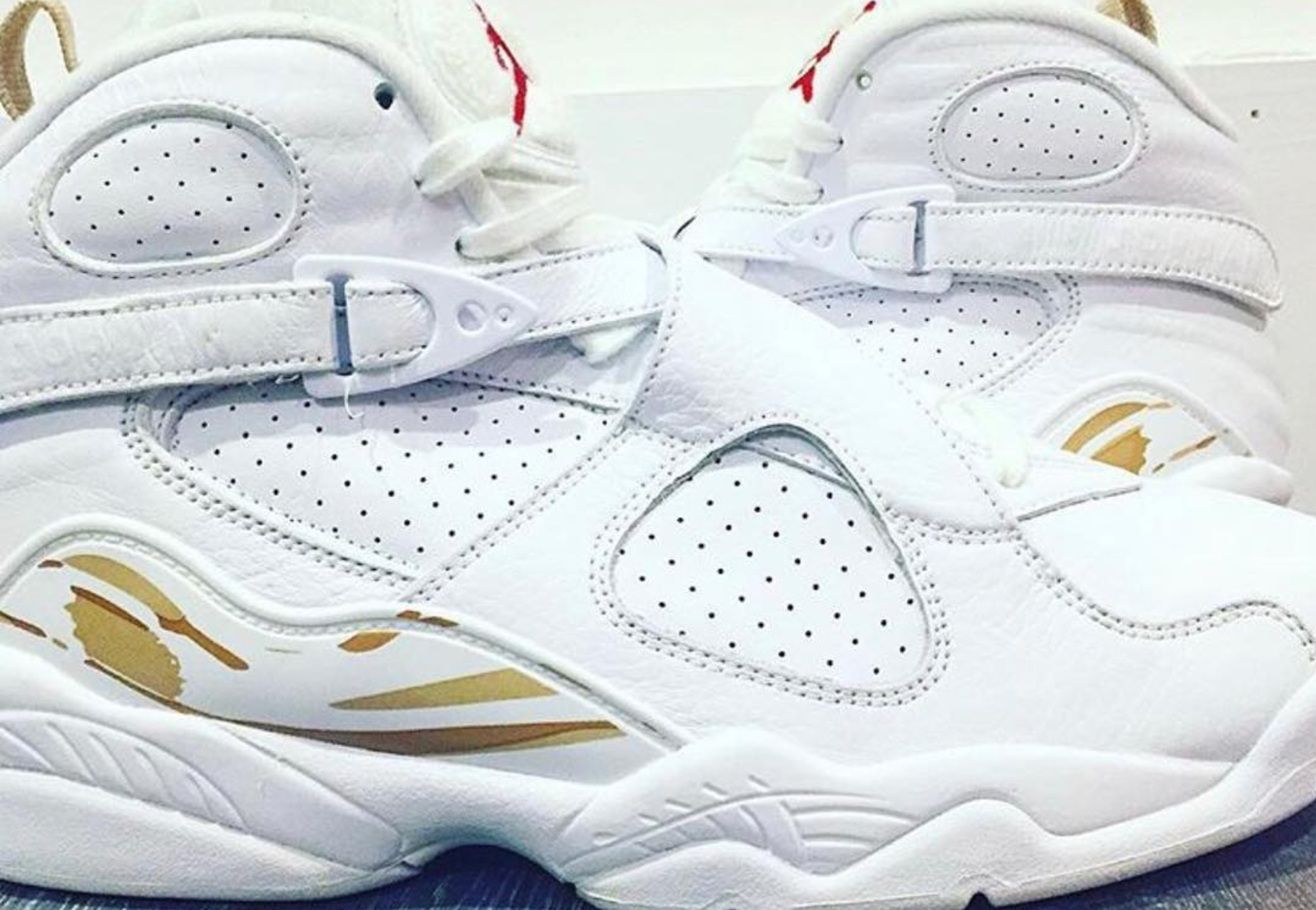 OVO air jordan 8 white gold 1