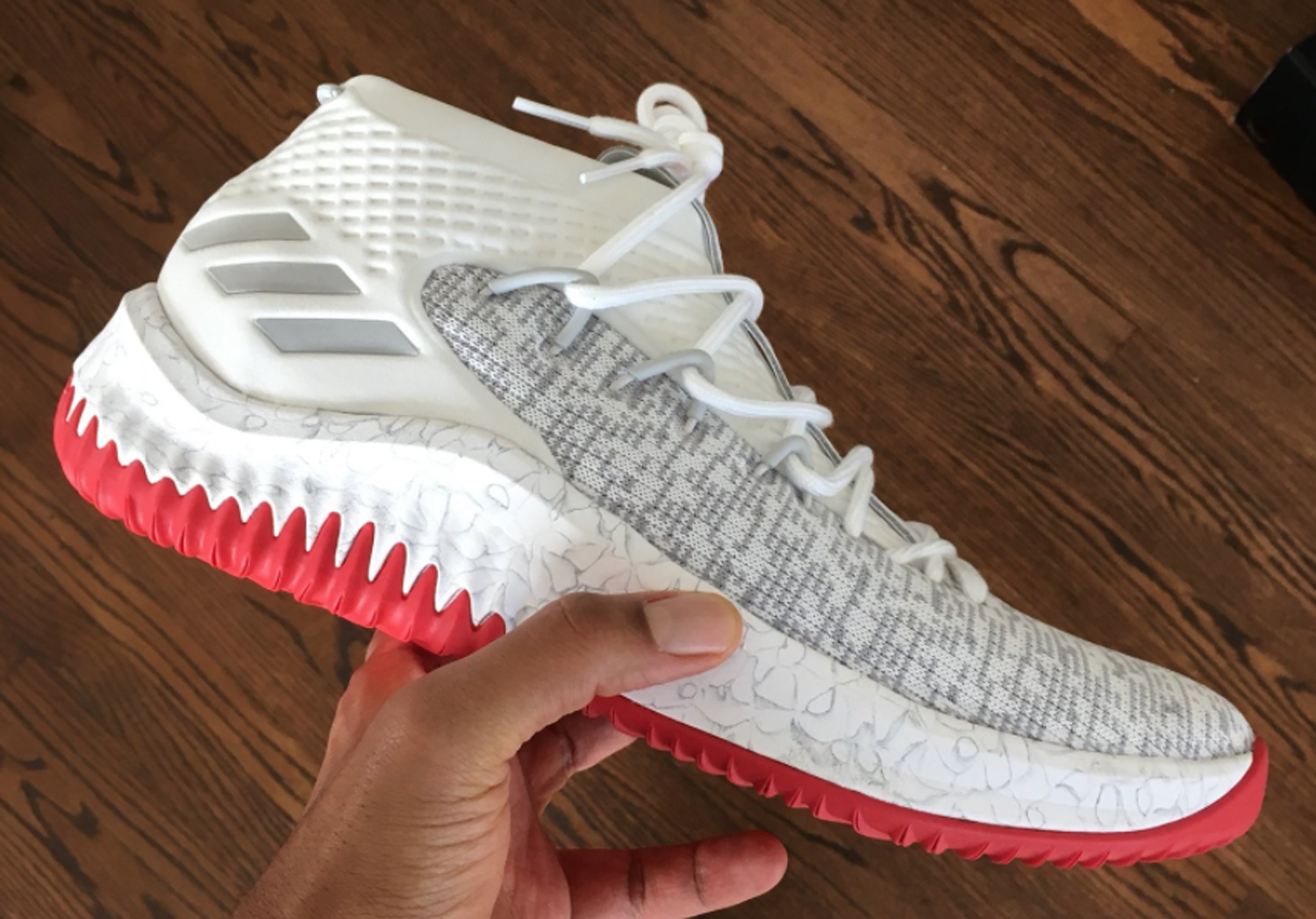 adidas Dame 4 White Red 2 WearTesters
