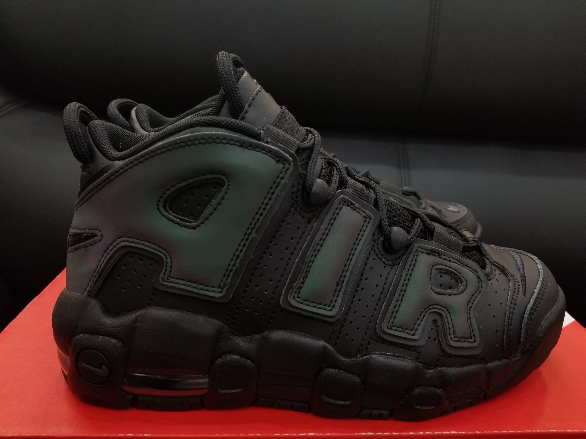 nike air more uptempo reflective iridescent 1