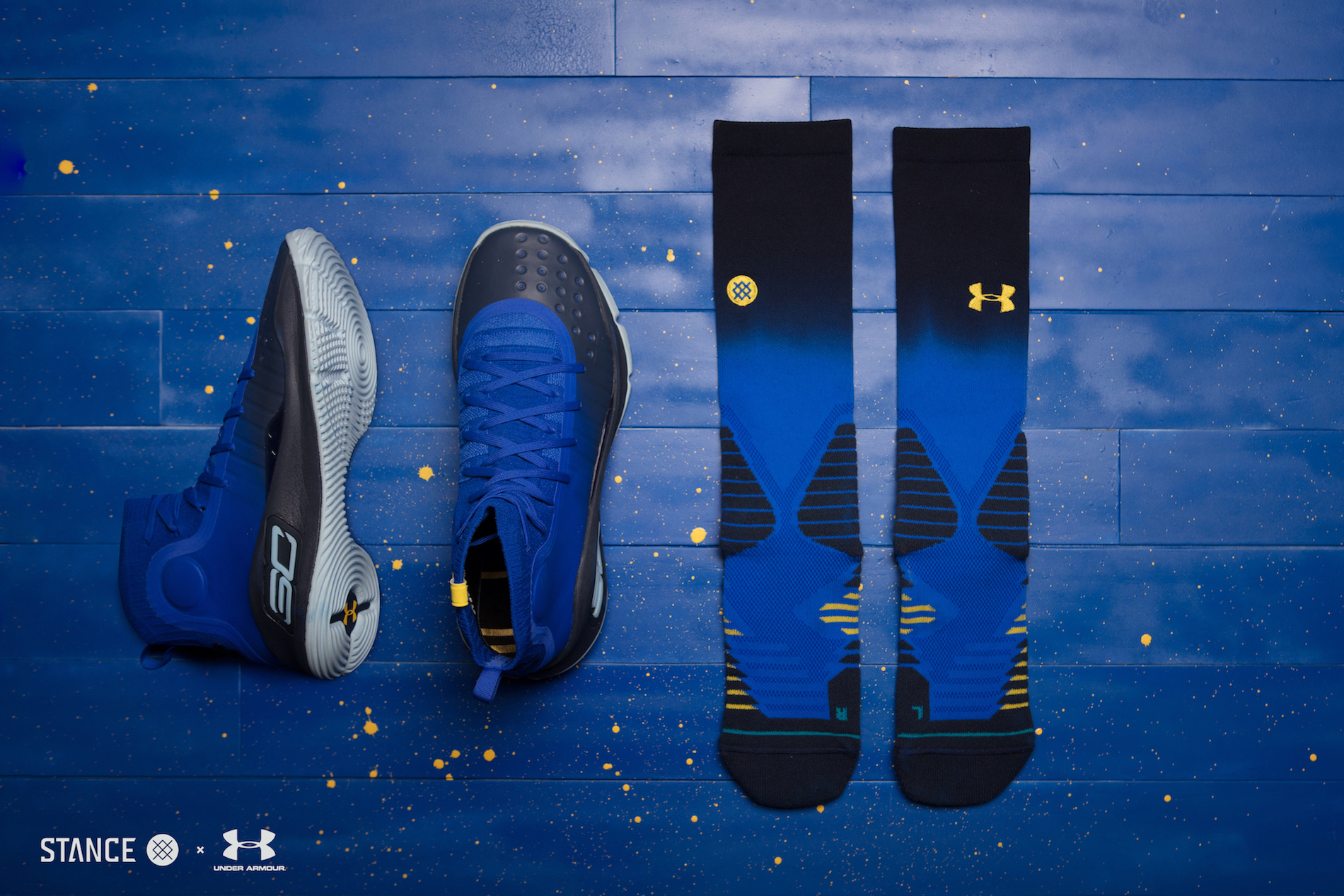 under armour Stance x Curry 4 Capsule socks 1