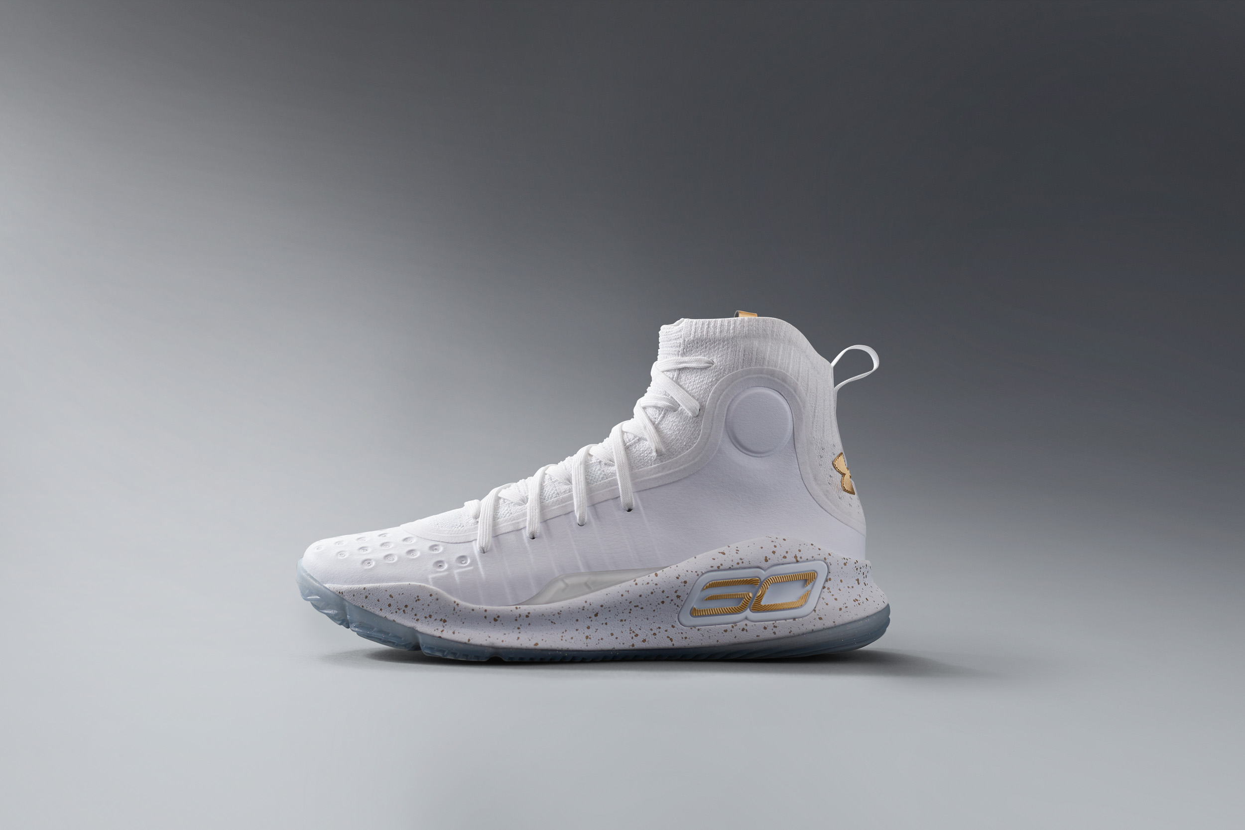 The Curry 4 White/Gold is Available Now